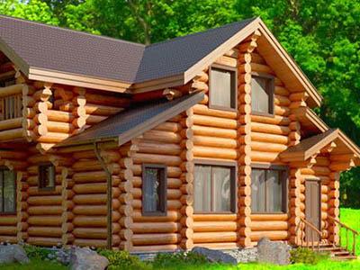 Дома из оцилиндрованного бревна в Рязани