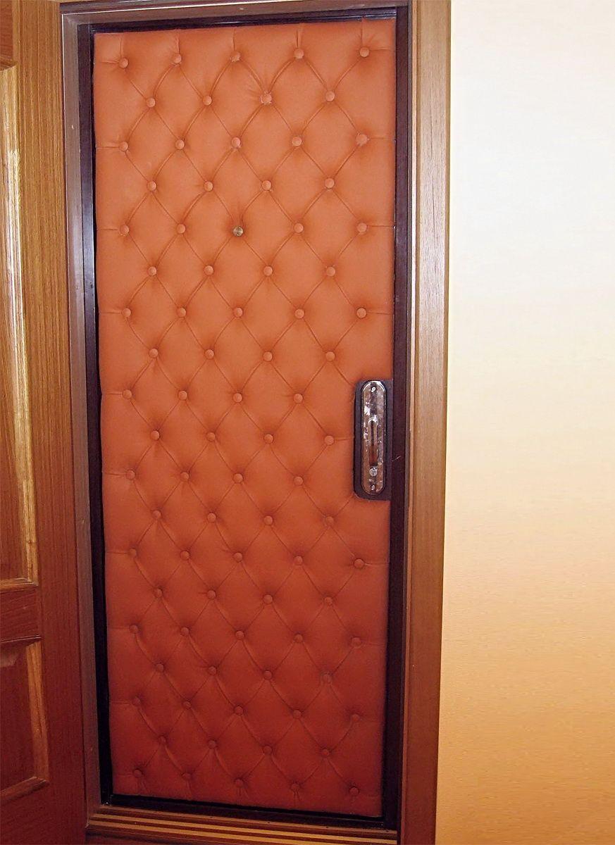 Шумоизоляция и утепление двери