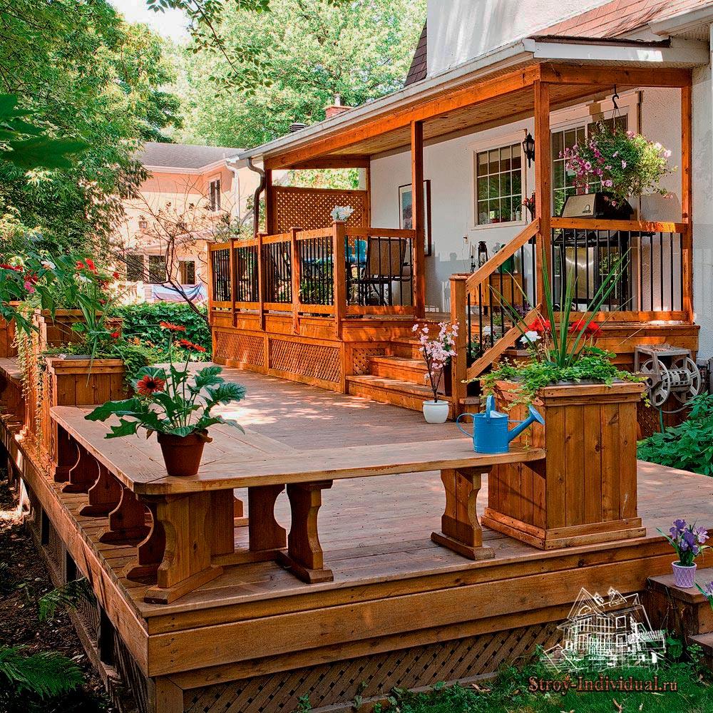 Крыльцо и веранды к деревянному дому фото 88