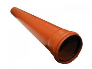 Труба ПП 110х0,5 метра с резинкой (РЫЖАЯ)